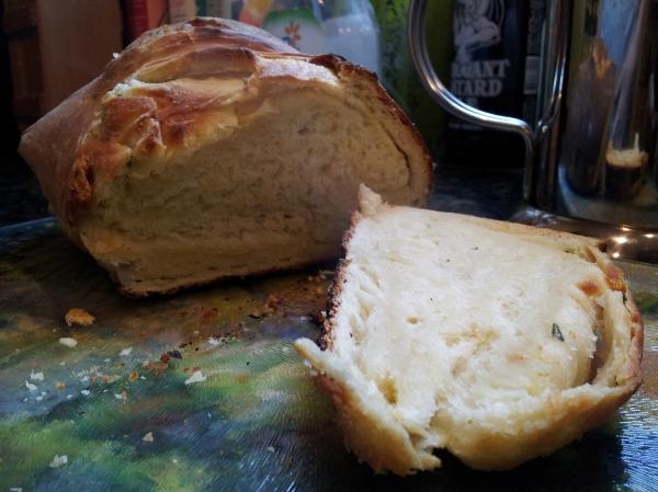 Mmmm steamy hot fresh bread!
